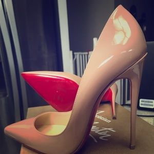 Christian Louboutin So Kate 120 nude sz 37
